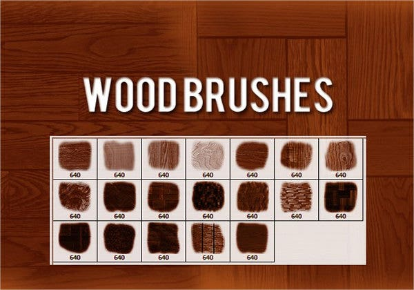 Wood Photoshop Brushes