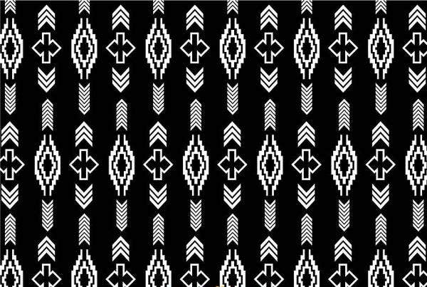 black-and-white-aztec-pattern