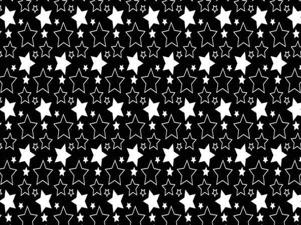 black-and-white-star-pattern