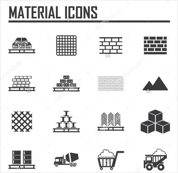 building material icons