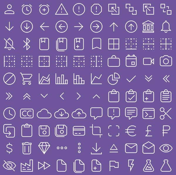 material line icons