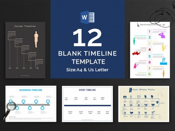 Blank Timeline Template Bundle