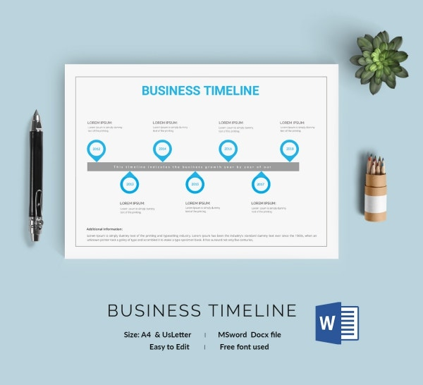 Business Blank Timeline Template