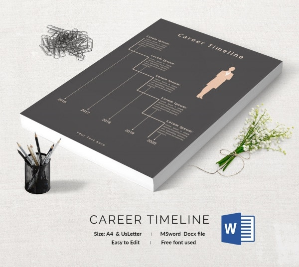 12+ Free Timeline Templates - Business, Career, Event, Students
