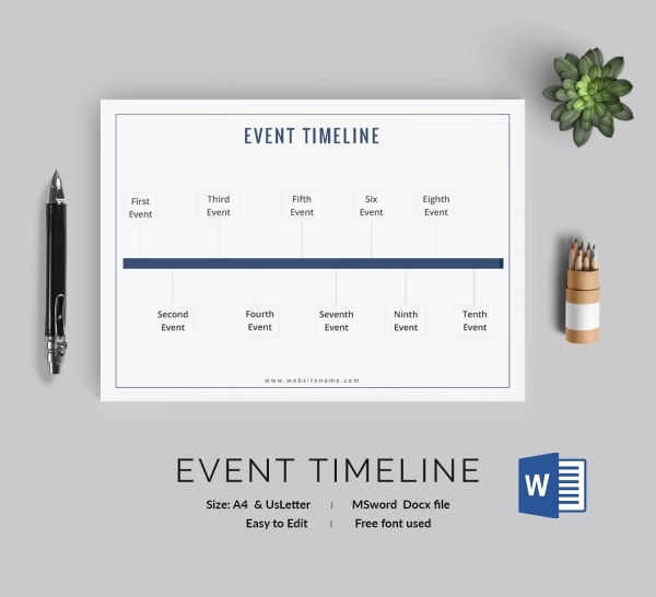Free Timeline Templates  Business Career Event Students