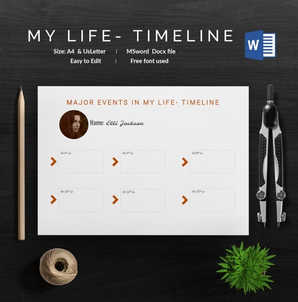 My Life Timeline Template