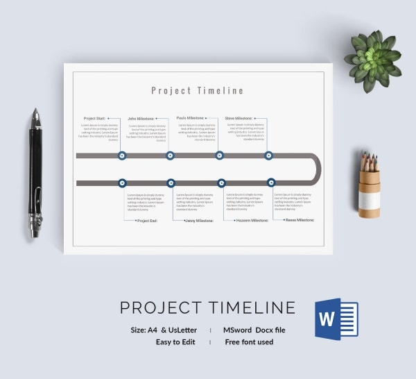 Project Outline Timeline Template