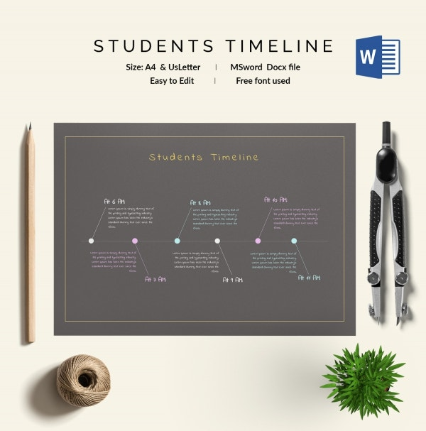 Students Timeline Template