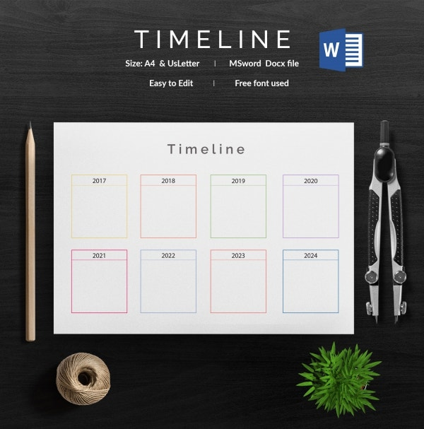 Blank Timeline Template