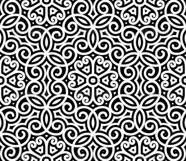 black-and-white-swirl-pattern