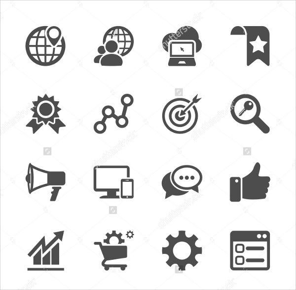 SEO and Internet Marketing Icons