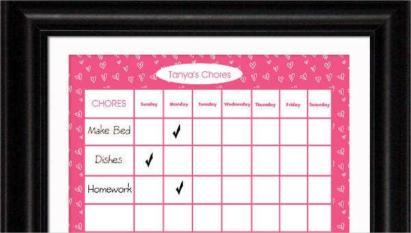 photo relating to Printable Chore Chart for 7 Year Old named Chore Chart for Young children - 7+ Free of charge PDF Information Obtain Cost-free