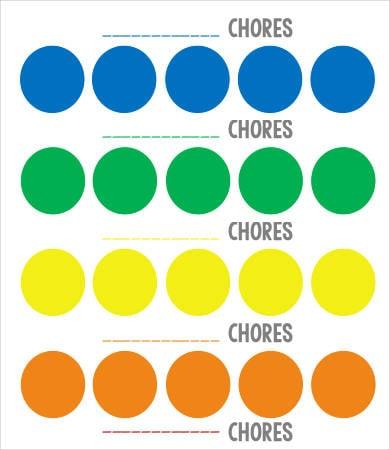 rainbow chore chart for kids