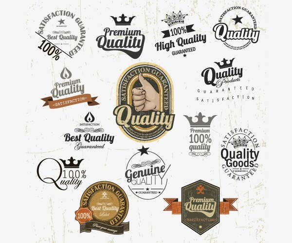 label vector badges