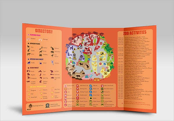 trifold zoo brochure
