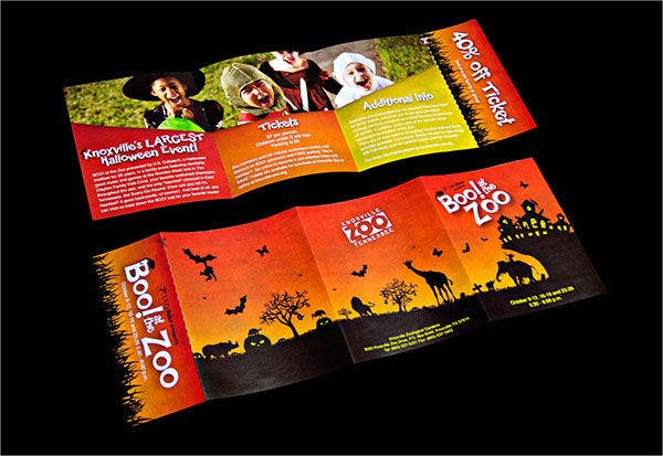 Zoo Hallowen Brochure