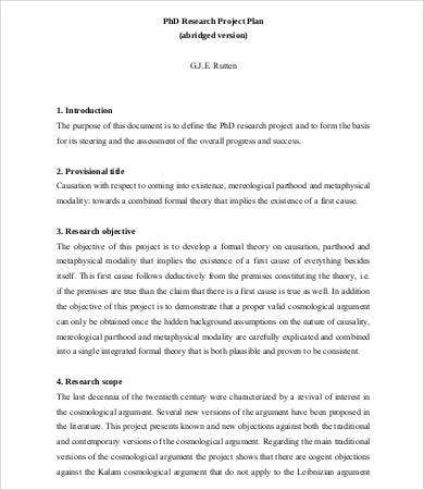 8+ Research Proposal Samples - Free Sample, Example, Format | Free