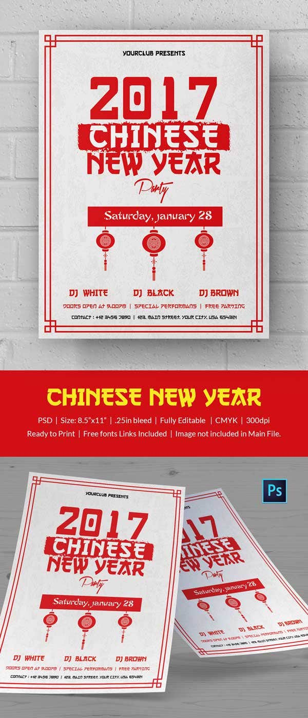 Cool Chinese New Year Flyer