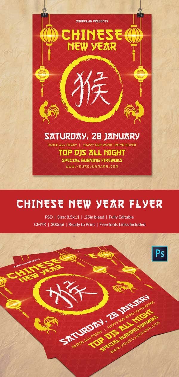 Editable Chinese New Year Flyer