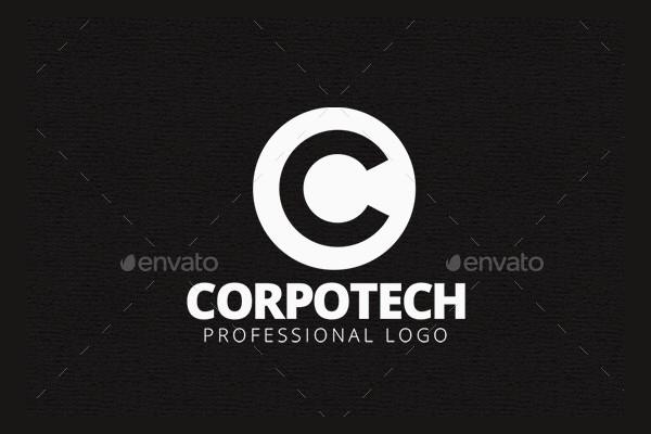 corpo tech logo template
