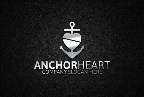 Black and White Heart Logo