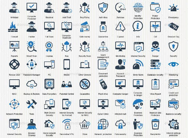 Flat Technology Icons