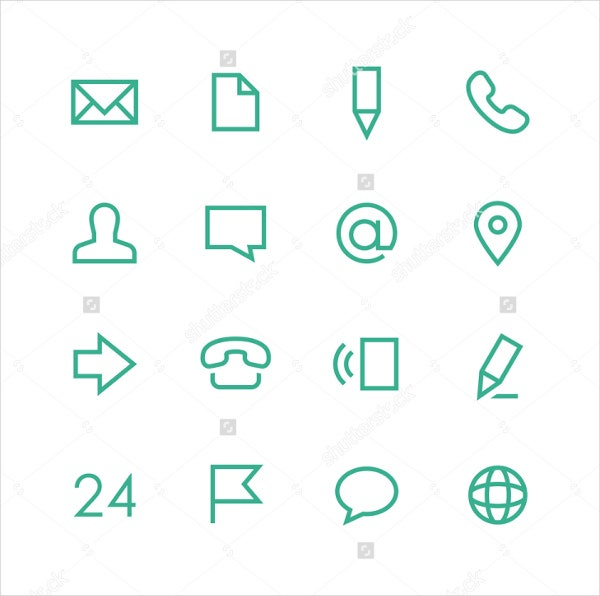 vector-contact-icons