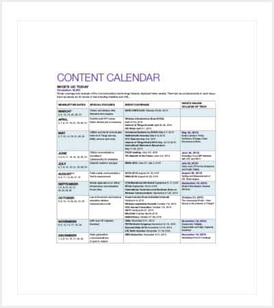 sample content calendar template min1