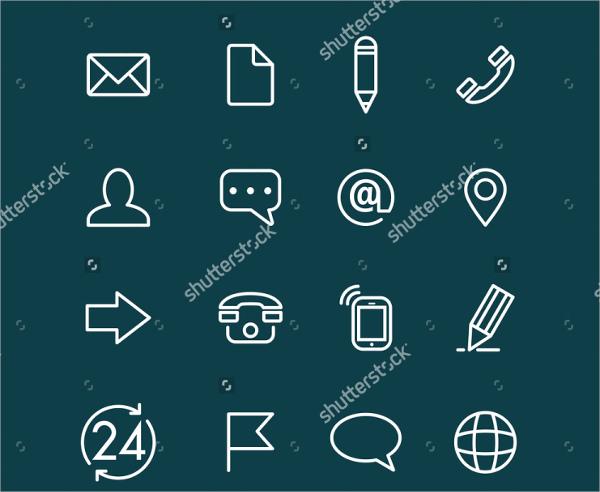 minimal contact icons