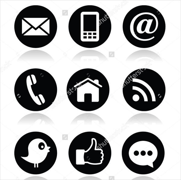 social-media-contact-icons-set