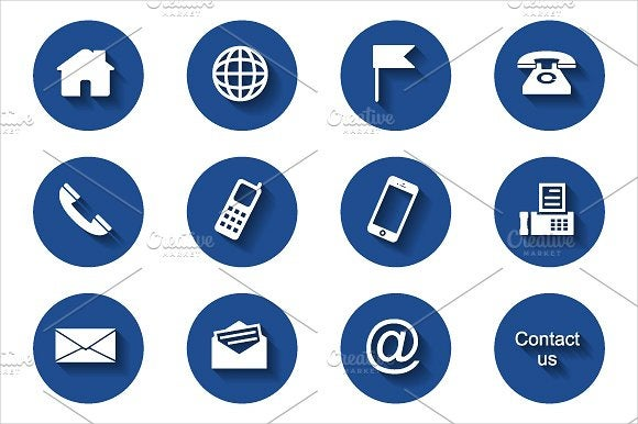 round contact icons