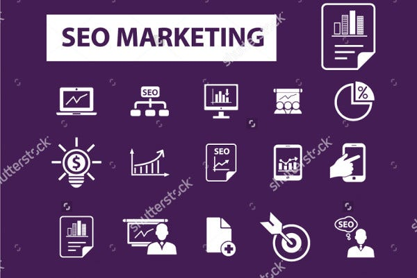 SEO Services and Marketing Icons