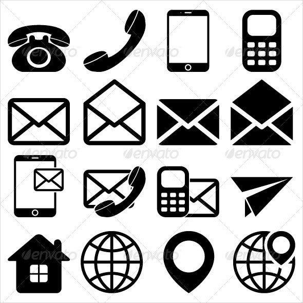 contact-us-icons-set