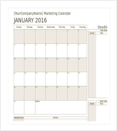 marketing calendar template in excel min