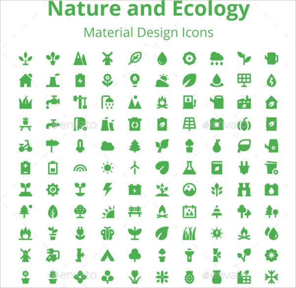 Nature and Ecology Icons