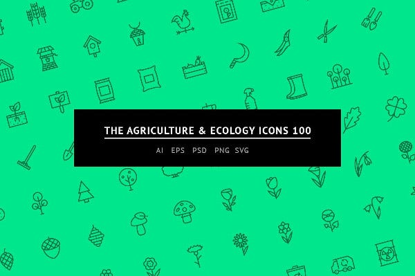 Agriculture and Ecology Icons