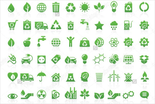 Thin Line Environment Icons Set