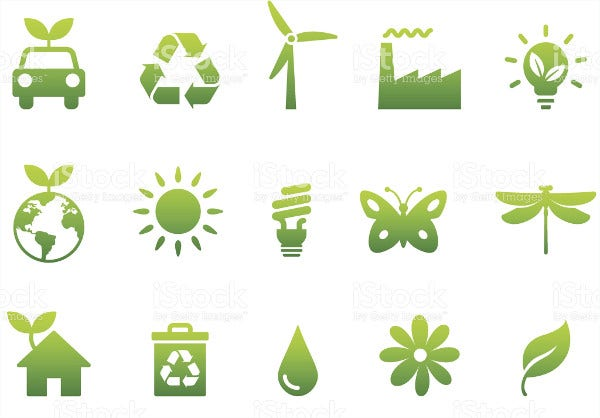nature environment icons
