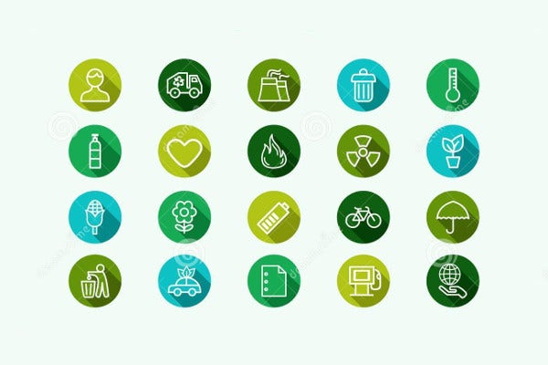 Eco Energy and Environment Icons