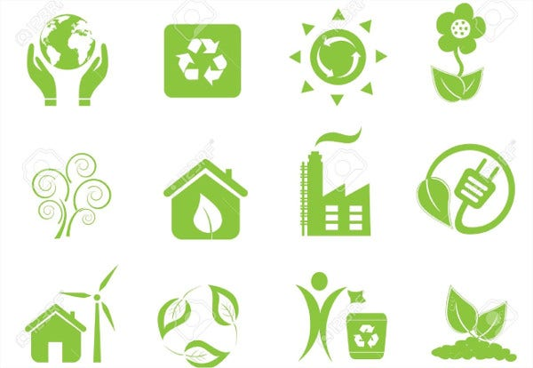 Eco and Environment Icons Set