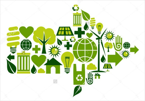 Creative Green Environment Icons