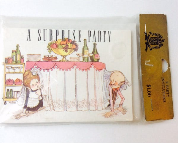 vintage surprise party invitation