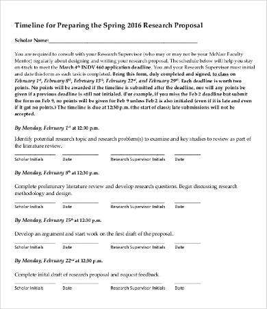 proposal timeline template 9 free word pdf documents download