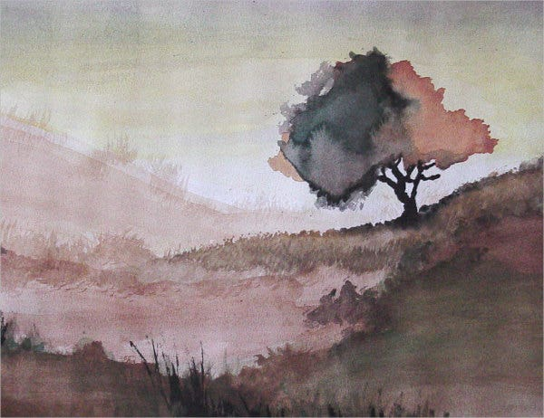 watercolor-tree-painting