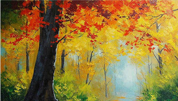 9  beautiful tree paintings