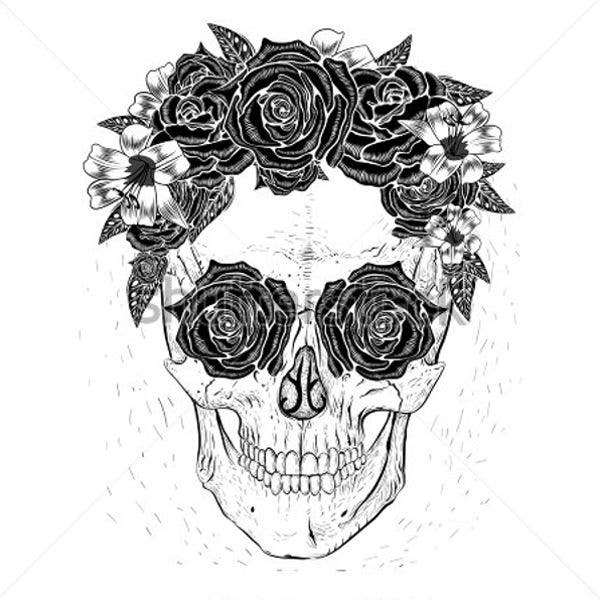 skull-and-flower-artwork