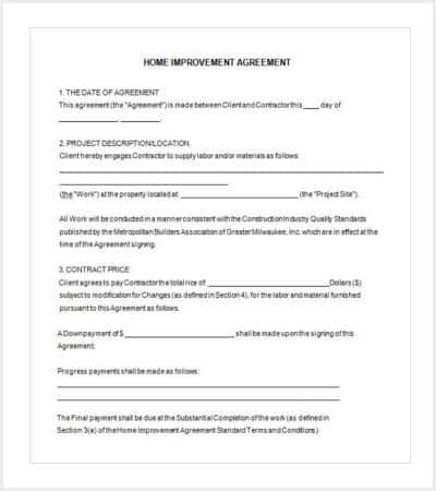 home improvement contract