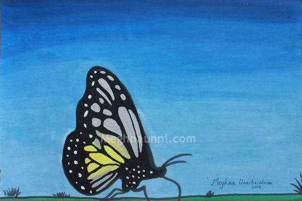 Butterfly Portrait Painting
