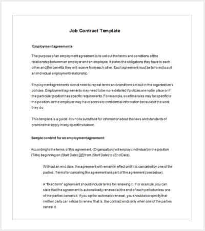 fixed term employment contract template min