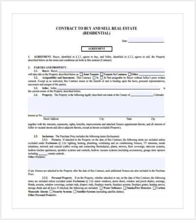 real estate contracts for sale by owner editable min